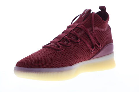 Puma Clyde Court Def Jam 19338501 Mens Red Mesh Lace Up Athletic Basketball Shoes