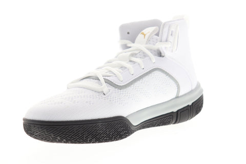Puma Legacy 68 19351201 Mens White Mesh Lace Up Athletic Basketball Shoes
