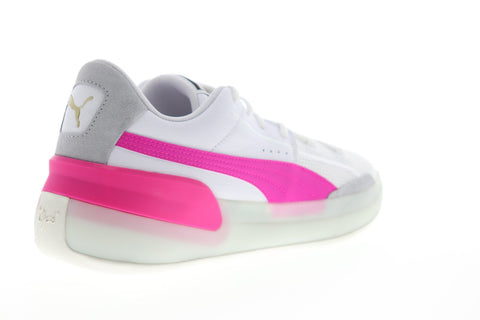 Puma Clyde Hardwood 19366303 Mens White Mesh Athletic Basketball Shoes