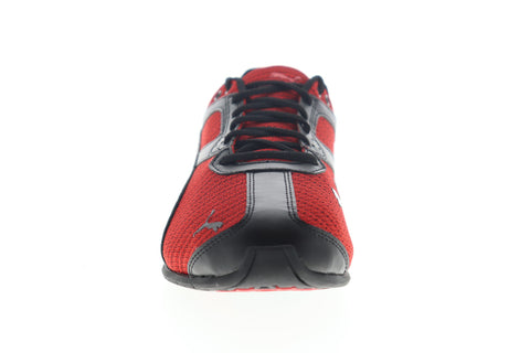 Puma Tazon 6 Ridge 19403702 Mens Red Canvas Lace Up Athletic Running Shoes