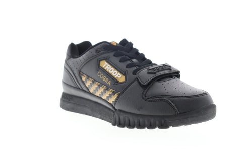 World Of Troop Cobra 1 1CM00662-040 Mens Black Leather Low Top Sneakers Shoes