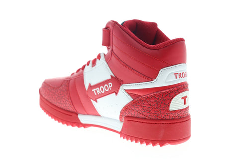 World Of Troop Crown Mid Ripple 1CM00847-128 Mens Red High Top Sneakers Shoes