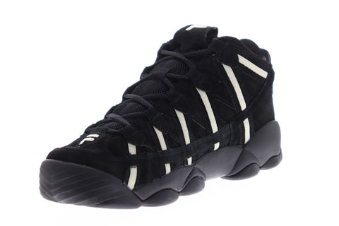 Fila Spaghetti Mens Black Suede High Top Lace Up Sneakers Shoes