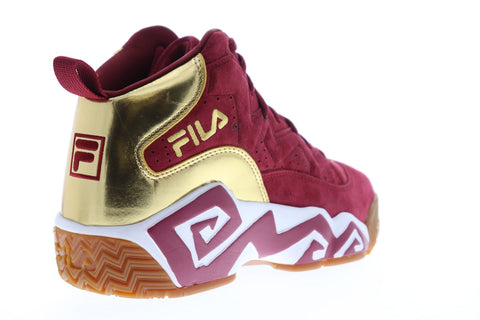 Fila Mb Mens Red Suede Athletic Lace Up Basketball Shoes