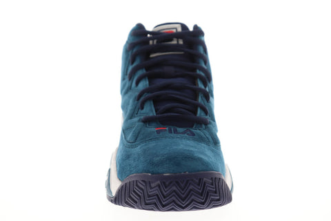 Fila Mb Mens Blue Suede Athletic Lace Up Basketball Shoes