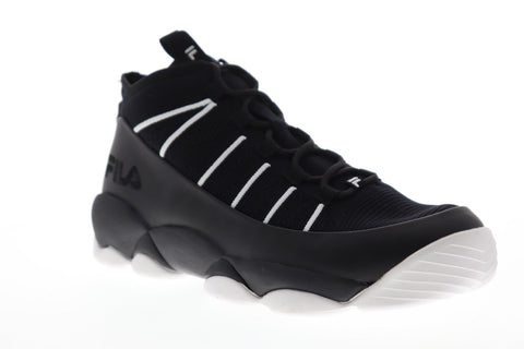 Fila Spaghetti Knit Mens Black Textile High Top Lace Up Sneakers Shoes