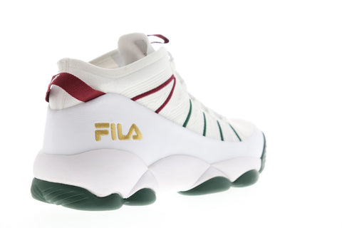 Fila Spaghetti Knit Mens White Textile High Top Lace Up Sneakers Shoes