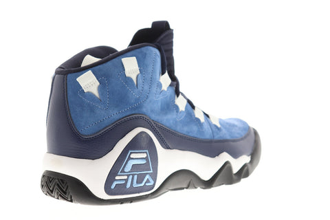 Fila 95 Slip On Mens Blue Suede High Top Lace Up Sneakers Shoes