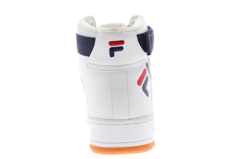 Fila Fx-100 Big Logo Mens White Leather High Top Lace Up Sneakers Shoes