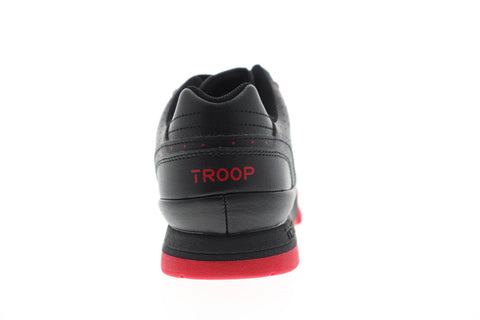 World Of Troop Cobra Mens Black Synthetic Low Top Lace Up Sneakers Shoes