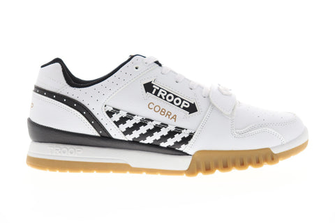 world of troop cobra 1cm00393114 mens white casual low