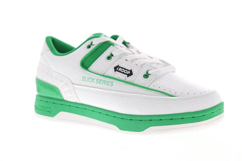 World Of Troop Slick Series Mens White Synthetic Low Top Sneakers Shoes