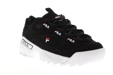 Fila D-Formation Mens Black Synthetic Low Top Lace Up Sneakers Shoes