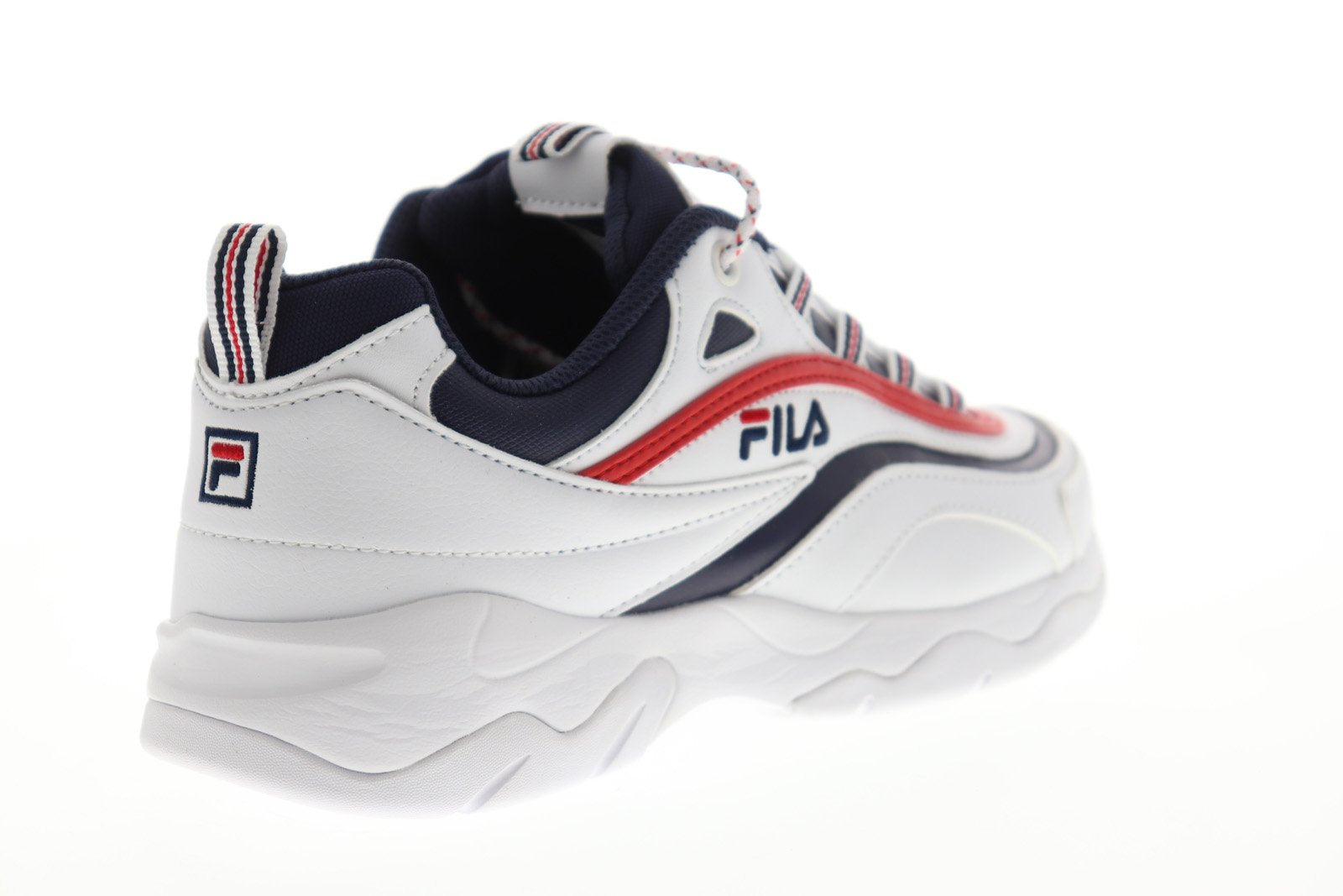Fila Ray 1CM00501 125 Mens White Casual Lace Up Low Top