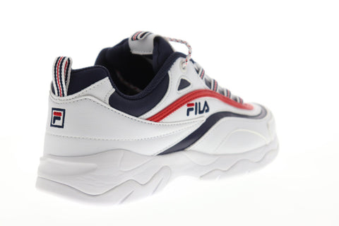 Fila Ray Mens White Synthetic Low Top Lace Up Sneakers Shoes