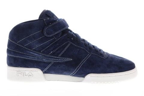 Fila F-13 Ts Mens Blue Suede Low Top Lace Up Sneakers Shoes