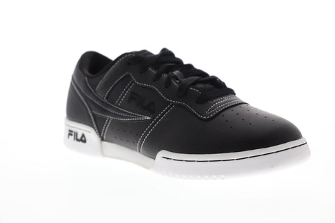 Fila Original Fitness Ts Mens Black Leather Low Top Lace Up Sneakers Shoes