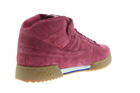 Fila F-13 Ripple Mens Red Suede Low Top Lace Up Sneakers Shoes