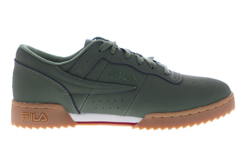 Fila Original Fitness Ripple Mens Green Leather Low Top Sneakers Shoes