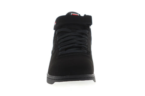 Fila F-13 Logo Mens Black Synthetic Low Top Lace Up Sneakers Shoes