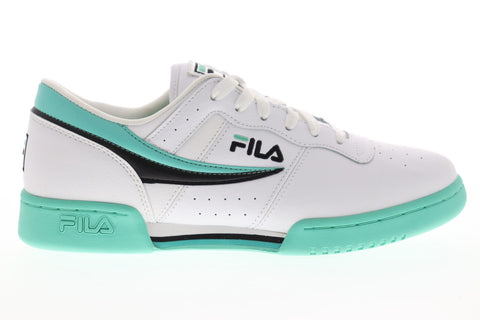 Fila Original Fitness Mens White Leather Low Top Lace Up Sneakers Shoes