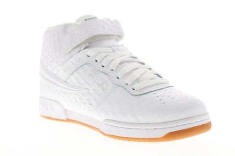 Fila F 13 Small Logos Mens White Leather Casual High Top