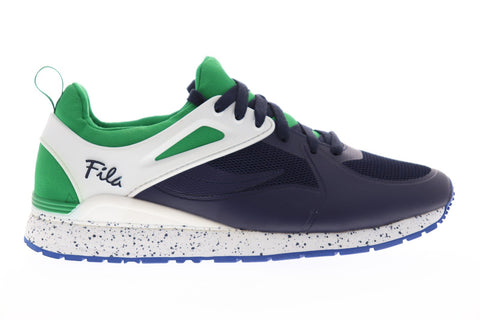 Fila Overpass 2.0 Fusion Mens Blue Mesh Low Top Lace Up Sneakers Shoes
