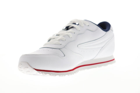Fila Euro Jogger Ii Mens White Synthetic Low Top Lace Up Sneakers Shoes