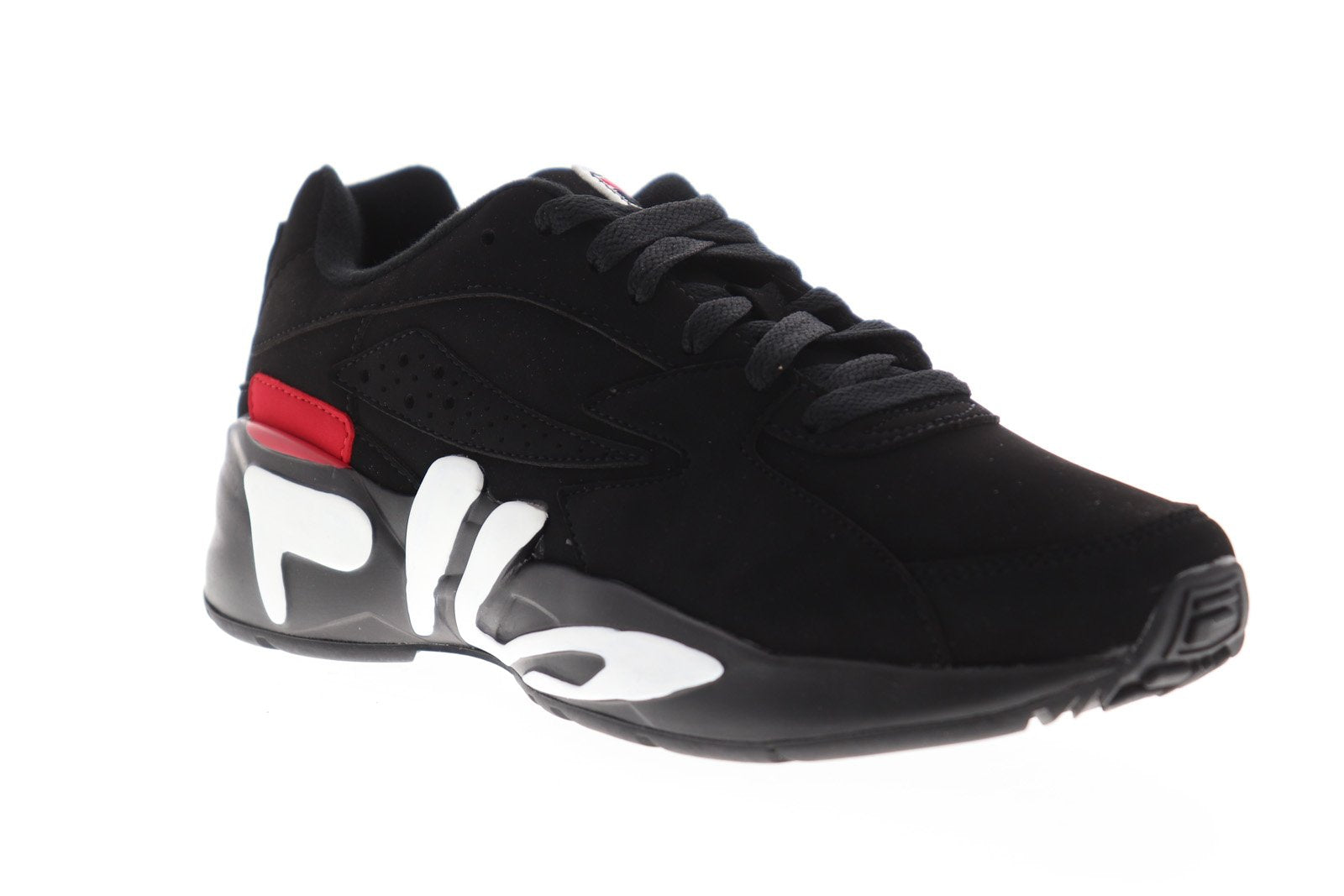 Fila Mindblower 1RM00201-014 Mens Black Casual Lace Up Low Top Sneakers  Shoes
