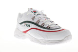 Fila Ray Mens White Leather Low Top Lace Up Sneakers Shoes