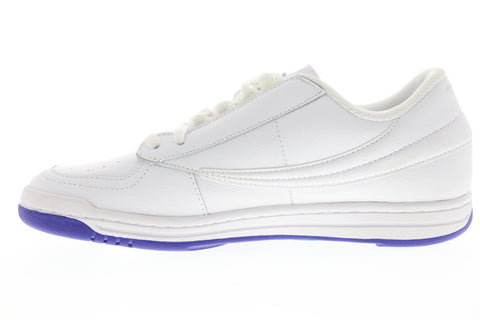 Fila Original Tennis Logo Mens White Synthetic Low Top Lace Up Sneakers Shoes