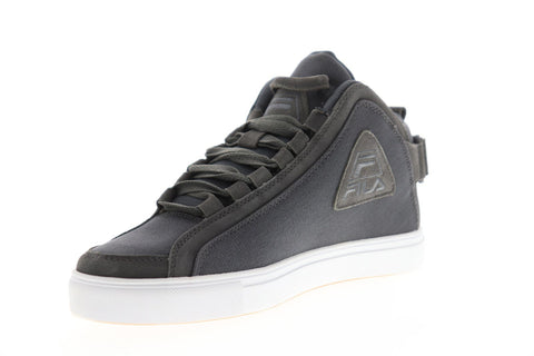 Fila V 96 Mens Gray Canvas Low Top Lace Up Sneakers Shoes