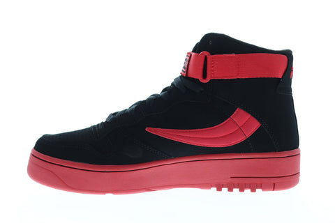 Fila Fx-100 Mens Black Suede High Top Lace Up Sneakers Shoes