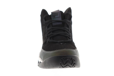 Fila 95 Mens Black Suede Athletic Lace Up Basketball Shoes