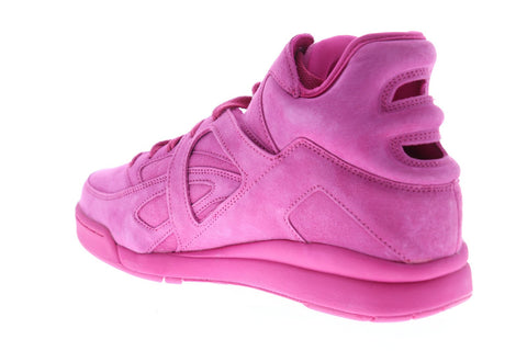 Fila The Cage Mens Pink Suede High Top Lace Up Sneakers Shoes