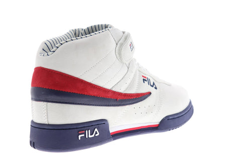 Fila F-13 Ps Mens White Suede Low Top Lace Up Sneakers Shoes