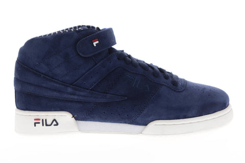 Fila F-13 Ps Mens Blue Suede Low Top Lace Up Sneakers Shoes