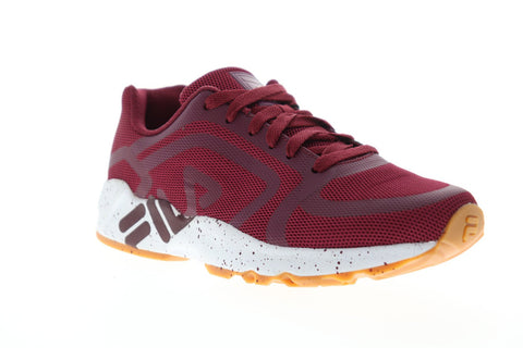 Fila Mindbender Mens Red Mesh Low Top Lace Up Sneakers Shoes