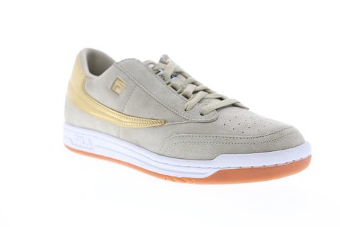 Fila Original Tennis Mens Gray Suede Low Top Lace Up Sneakers Shoes