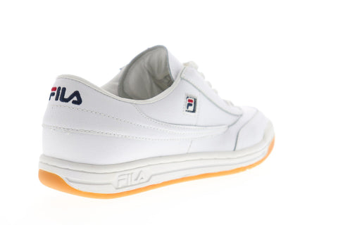 Fila Original Tennis Mens White Leather Low Top Lace Up Sneakers Shoes