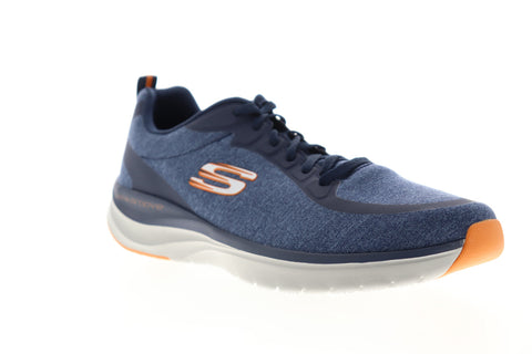 Skechers Ultra Groove Jarmer 232033 Mens Blue Canvas Lifestyle Sneakers Shoes