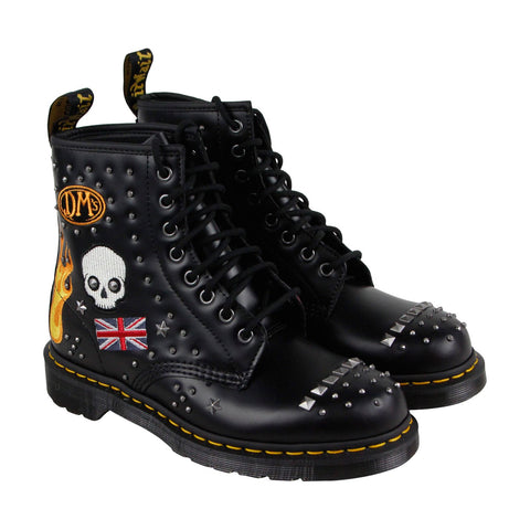 Dr. Martens 1460 Rockabilly Mens Black Leather Casual Dress Lace Up Boots Shoes