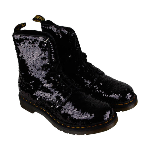 Dr. Martens 1460 Pascal Reversible Sequin Womens Black Casual Dress Boots Shoes