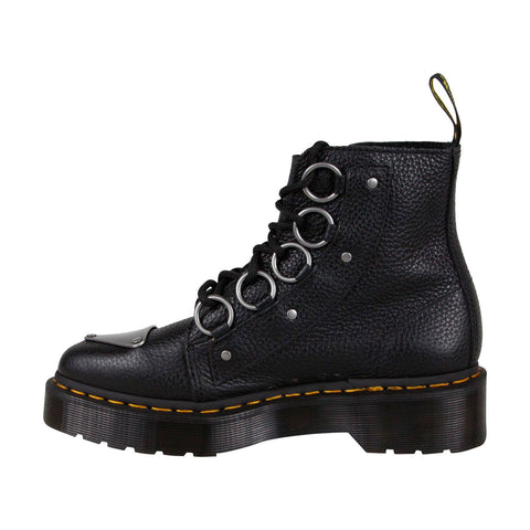 dr martens farylle r24613001 womens black leather casual
