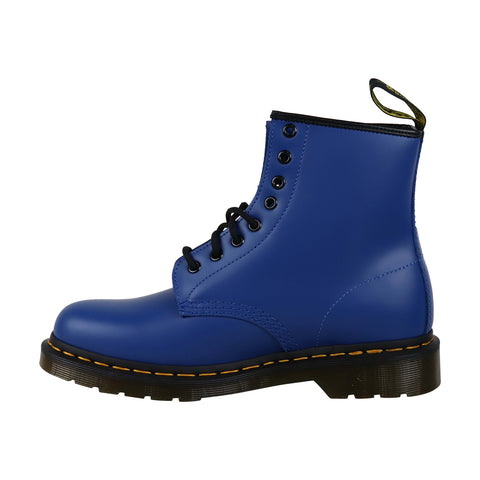 Dr. Martens 1460 Smooth Mens Blue Leather Casual Dress Lace Up Boots Shoes