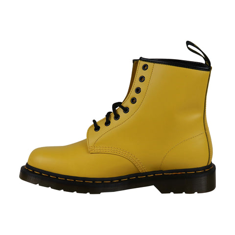 Dr. Martens 1460 Smooth Mens Yellow Leather Casual Dress Boots Shoes UK 10