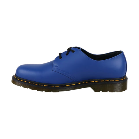 Dr. Martens 1461 Smooth Mens Blue Leather Casual Dress Oxfords Shoes