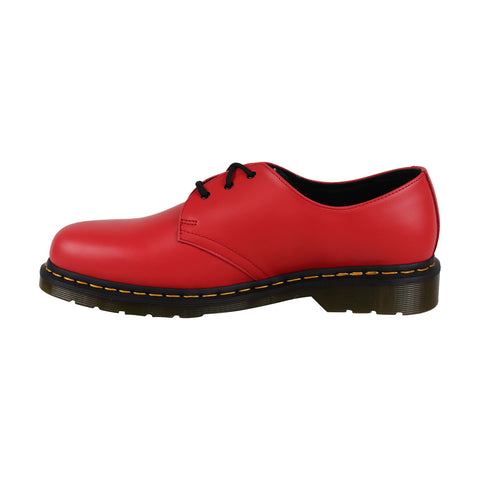 Dr. Martens 1461 Smooth Mens Red Leather Casual Dress Oxfords Shoes