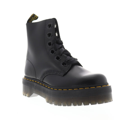 Dr. Martens Molly R24861001 Womens Black Leather Casual Dress Boots Shoes
