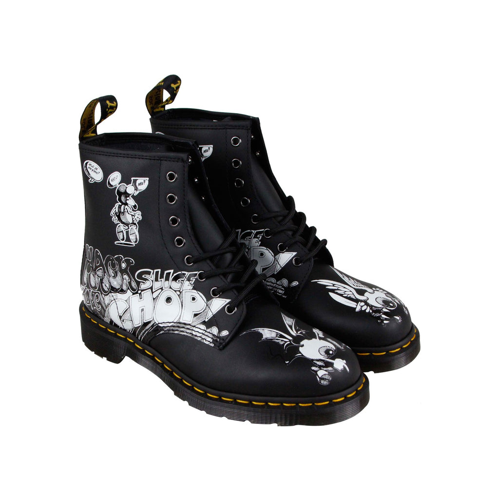 595a2240b3b Dr. Martens 1460 Rick Griffin Mens Black Leather Casual Dress Boots Shoes
